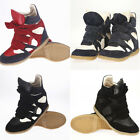 NEW YEU EARE Womens Velcro Strap High-TOP Sneakers Lady Shoes Ankle Wedge Boots