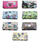 Ladies Authentic Anna Smith Patent Owl Print Purse Women Wallet Bag Boxed Gift