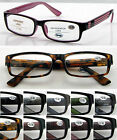 R176 Super Fashion Reading Glasses Spring Hinges +50+100+125+150+175+200+225+250