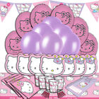 Hello Kitty Pastel Complete Childrens Party Tableware Decorations Kits