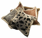 "Luxury Animal Cushion Cover, Textured Scatter Cushions, 18""x 18""/ 45 x 45 cms"