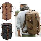 Men's Stylish Canvas Backpack Rucksack school bag Messenger Hiking shoulder bag