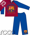 Boys Burgundy & Blue Barcelona FC Pyjamas Official, Kids Pjs, Boys Nightwear