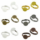 Brass Ring Shanks Pad Base Jewelry Findings Adjustable Ring Pack of 50