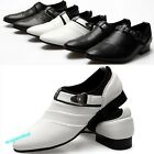 Men's Hot Sale Wing Tips Dress Shoes Buckle Loafers Slip On Flat Leather Shoes
