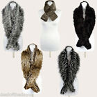 Pia Rossini Ladies Faux Fur Scarves Scarf Stole Collar Black White Grey Wrap New