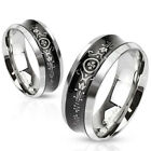 316L Stainless Steel Concave Victorian Floral Wedding Band Ring Size 5-14