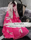 NWT Alexande Mc queen MCQ Dragonfly skulls Pink&Rose 100%Silk classic scarf