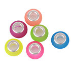 Translucence Candy Color Faux FIMO Round Charm Acrylic Beads For Europe Bracelet