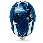 2014 Fly Racing Formula STRYPER Carbon Fiber HELMET Blue-White XL ATV MOTOCROSS