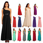 Womens Long One Shoulder Sequin Ruffled Evening Maxi Formal Dresses UK 6 to 20