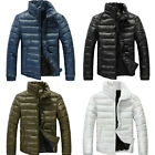 New Fashion Men's cotton-padded Coat Down jacket Slim warm Casual outerwear