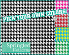 HOUNDSTOOTH PATTERN VINYL #1 Craft Vinyl Decal Sheets Scrapbooks CUSTOM COLORS!