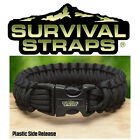 Survival Straps Paracord Bracelet Plastic Release - All Sizes - Made In America