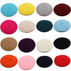 Fashion New Lady Womens Wool Blend Beret Beanie Winter Hat Ski Cap Gifts HT-0009