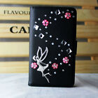 New 3D Bling crystal Rhinestone Leather Flip Wallet Case Cover housing fold