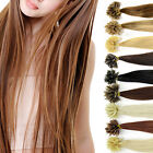 16 inch 100 strands Pre Bonded Nail U Tip 100% Remy Human Hair Extensions UK BN