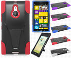 For Nokia Lumia 1520 Hard Advanced HYBRID KICKSTAND Rubber Case Phone Cover