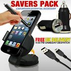 Mini Car Mount Holder,Usb Charger,Data Cable & Stylus Pen For Various Mobile
