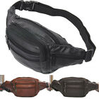 New Hot Sale Men's Compact Genuine Reall Leather Belt Waist Bag Fanny Pack AC56