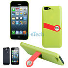 New Simplicity Protective Hard Case with Mini Stand for iPhone 5 5G CHA+Red HK