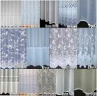 CHEAP LUXURY VOILE NET CURTAINS SLOT TOP ~ PLAIN & FLORAL  special Drop Sizes