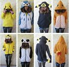 Animal pokemon/Umbreon/Charmandar/Pikach/Panda/Owl cosplay jacket coat hoodie