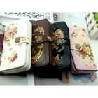 Fashion Women Long Flower Retro Purse Buckle Wallet Handbag Mobile Phone Bag