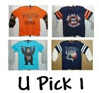 CARTERS LITTLE BOYS LONG SLEEVE SAYINGS T-SHIRT SIZE 2T 3T 4T 24 MO SPORT CUTE