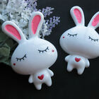 2/10/30pcs Big Rabbit Resin Flatback Buttons DIY Scrapbooking Appliques JCN079