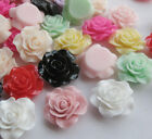 20/100pcs Resin Rose Flower Flatback Buttons DIY Scrapbooking Appliques JCN028