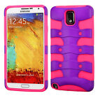 For Samsung Galaxy Note 3 Hybrid FISHBONE Rubber Case Phone Cover