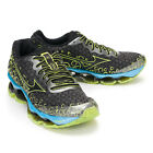 "MIZUNO Men's ""Wave Prophecy 3"" Running Shoes Dark Grey-Black-Lime J1GC140002"