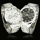 Free Shipping New Men's Elegant Stainless Steel Quartz Analog Wrist Watch, NW24