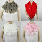 LOOSE KNIT INFINITY CIRCLE  FRINGE SCARF #SF204
