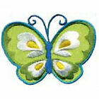 Craft Factory Iron or Sew On Fabric Motif Applique - Blue & Yellow Butterfly