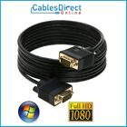 6FT 10FT 25FT 30FT 50FT 100FT HD15 PIN SVGA SUPER VGA Monitor Cable M Male LOT