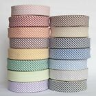 5 Metres of 30mm Stripe Bias Binding Extra Wide Quilting Tape Bright Colours