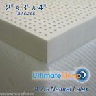 "NEW 3 Inch 100% Natural Latex Mattress Pad Topper - King 76"" x 80"", 3 Densities"