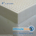 "NEW 4 Inch 100% Natural Latex Mattress Pad Topper - TwinXL 38"" x 80"" 3 Densities"