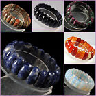 Sodalite opalite agate goldstone malachite wide beads stretchable bracelet 7""