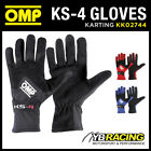 NEW! KK02744 OMP KS-4 KS4 KART KARTING GLOVES ENTRY LEVEL SUIT BEGINNER DRIVER