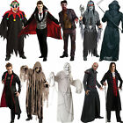 Zombie Halloween Mens Fancy Dress Costume Outfit Vampire Horror Adult New Mask