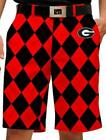 2013 Loudmouth Golf Men's Georgia Bulldogs Shorts Brand New Item LM2052