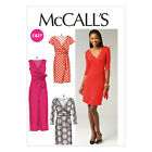 McCall's 6884 Easy Sewing Pattern to MAKE Misses' Stretch Fabric Mock Wrap Dress