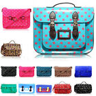 Ladies Girl's College Satchel Polka Dot Spotty Horse Cross Body Bags School a4