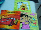 Children's Character Flannels/face cloths DORA, WINNIE THE POOH & DISNEY CARS