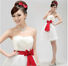 Hot Wedding Bridesmaid Mini/Short Cocktail Party Evening Prom Dress Ball Gown