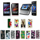 For Sony Xperia Phones Various Printed Hard Shell Back Fits Case Cover + Stylus