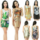 2014 New Women Hot Sexy Space Galaxy Print Tops Lady Stretch Bodycon Mini Dress
